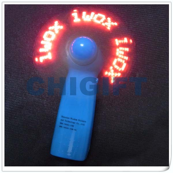 Handheld Battery Operated Fan Target LED Message Mini Fan