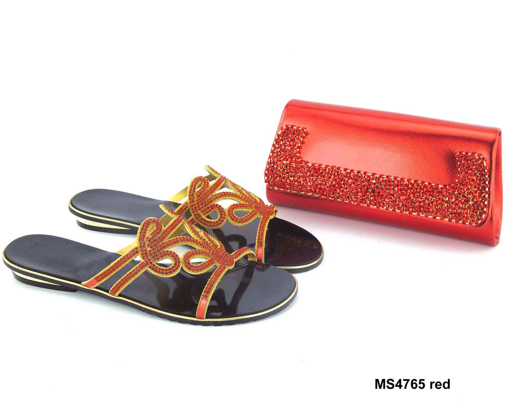 crystal set shoes shoe women matching 2017 slipper bags ladies sandal bag fancy and flat OnF8nxdgwq