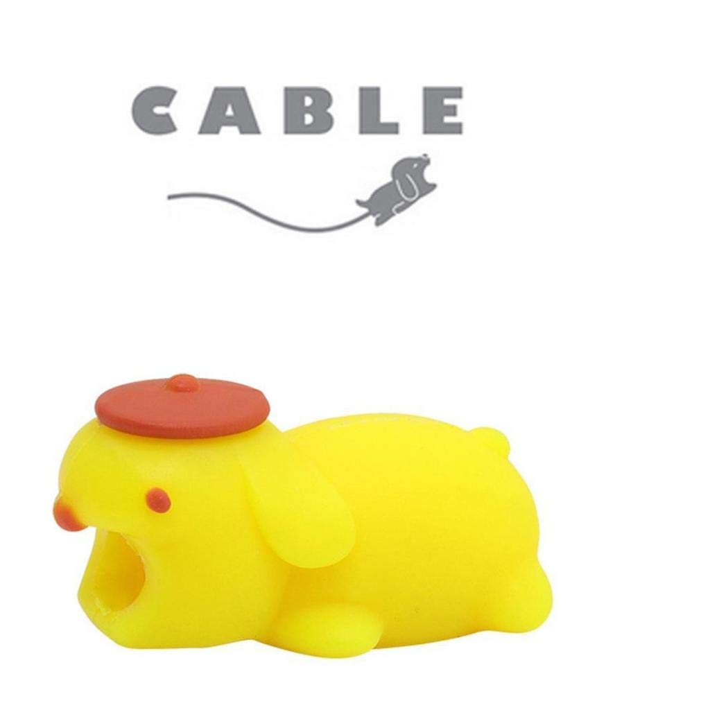 Gbell Luminous Glow Cute Animals Cable Accessory Line Bite for Phone Cable Cord - Silicone Cable Accessory Protector for iphone Android