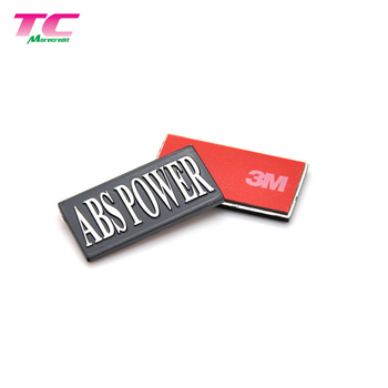 Custom Metal Tag With 3M Adhesive Sticker Waterproof Metal Logo Sticker For Packaging Box