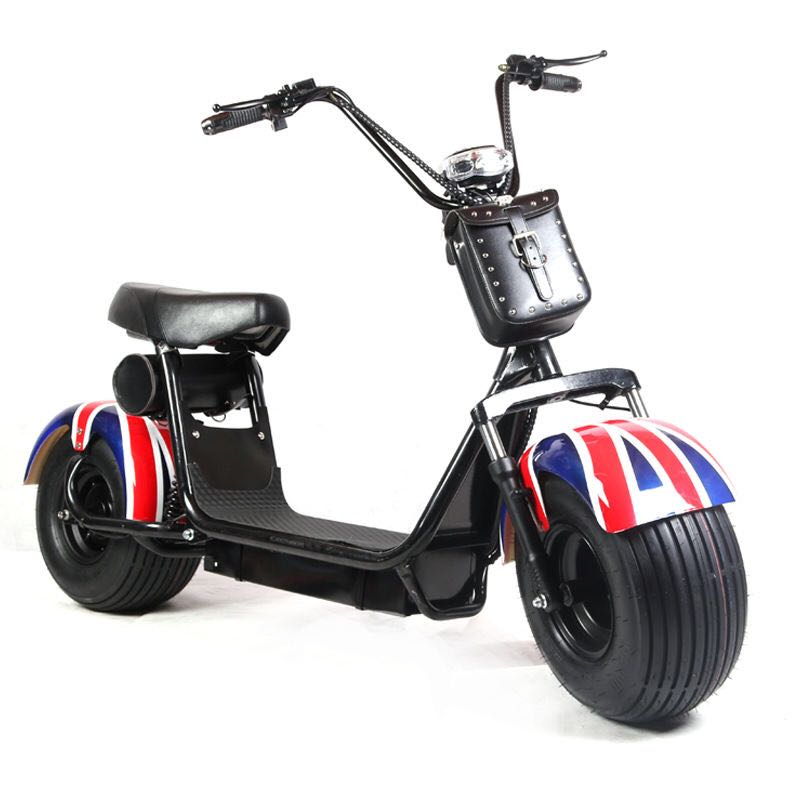 2000w uk flag Popular Harley style Vespa Electric Scooter electric motorcycle