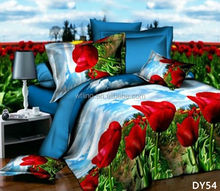 Hot Sale ! 2015 American 100% polyester bedding set 3d Rose Flower Print Bedding Set wholesale