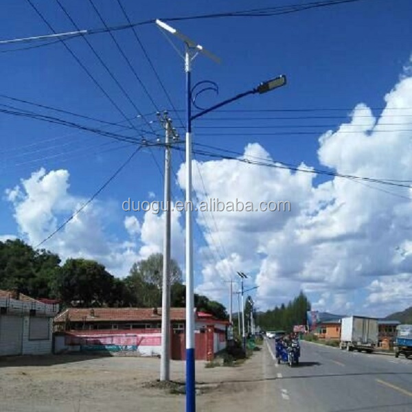 Solar energy lamp of solar streetlight system for rural area LED road lighting of the belt and road initiative projects