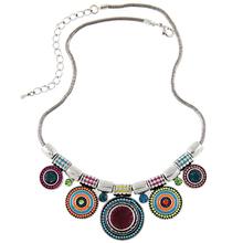 Orientálny dámsky strieborný náhrdelník z Aliexpress