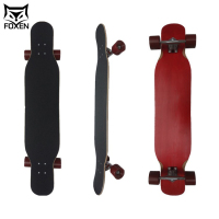 Drop Through Downhill Canadian Maple Bamboo Longboards Drop Down Deck Skateboard 38inch With Graptape