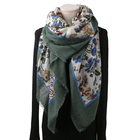 HOT 2019 Style Unique Embroidered Silver Wire 100% Pure Wool Scarf Shawl Stole For Women
