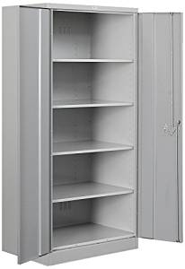 Salsbury Industries Heavy Duty Assembled Storage Cabinet, 78-Inch High by 18-Inch Deep, Gray