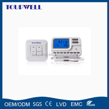 Multi zone control radiantic wireless room thermostat