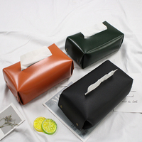Youyue Premium Square Tissue Box Faux Leather Tissue Holder for Home Decoration