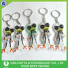 High quality cheap Colorful Frog Keychain, Pvc Keychain, Led Pvc Kid'S Keychain