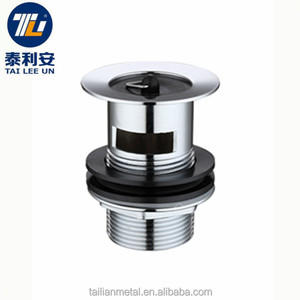 Sink water drain plug brass stopper waste and overflow