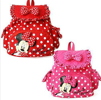 Small Minnie Little Baby Children Girls Backpacks Cartoon School Bag for Kids