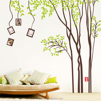 large size decor wall sticker tree design/vinyl tree wall stickers