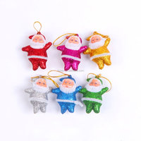 santa Christmas decoration, Christmas gifts, Merry Christmas tree Decoration mini santa claus toy doll key chain