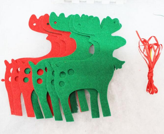 custom made various shaped red and green christmas decorations for home