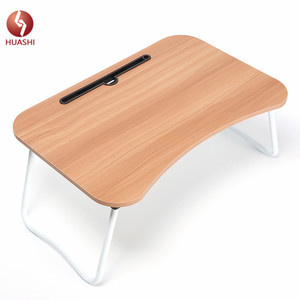 New design Arc shape Foldable study/laptop/coffee Table with slotting and Used in Bedroom, on the Floor or sofa
