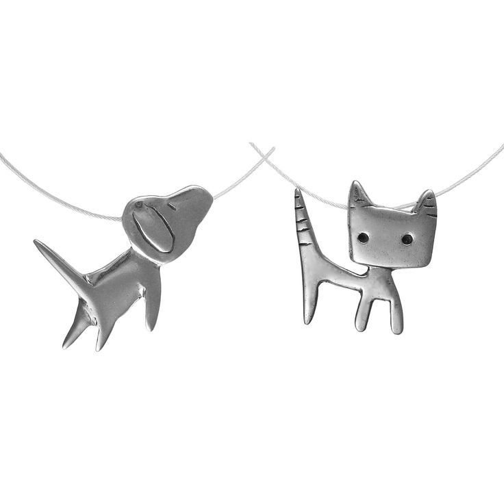 Manufacture Cute Cute Animal Charms sterling silver cat pendant