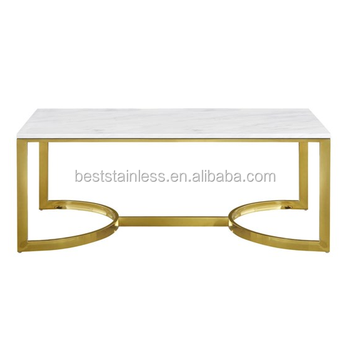 Fashion Arabic Style Square Marble Top Gold Coffee Table Buy