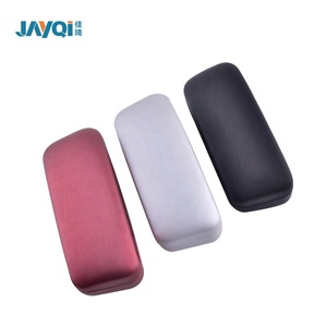 cheap custom logo printed cute folding leather eyeglasses case for sunglasses