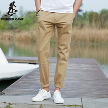 Pioneer Camp 2016 Brand new Summer Autumn Men Casual Pants Solid Straight Long Khaki Pants male Trousers Cotton Elastic 655110