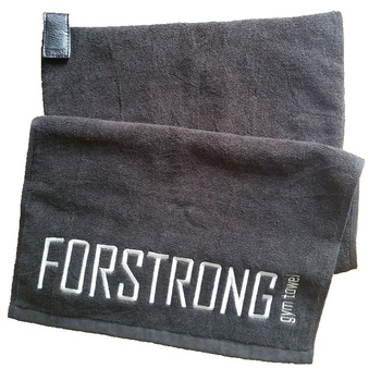 magnetic sports sweat towel custom made embroidery logo black cotton magnet gym towel with zipper pocket