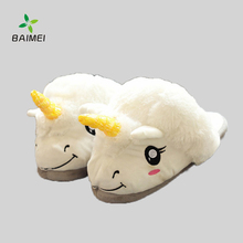 2017 Winter Warm Welcomed Personalized Unicorn Slippers