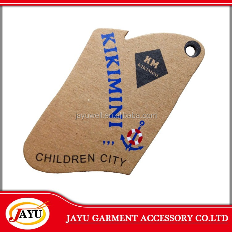 Wholesale popular custom paper hang tag label for garment