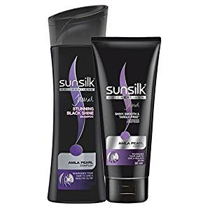 Sunsilk Stunning Black Shine Shampoo (180 ml) + Conditioner