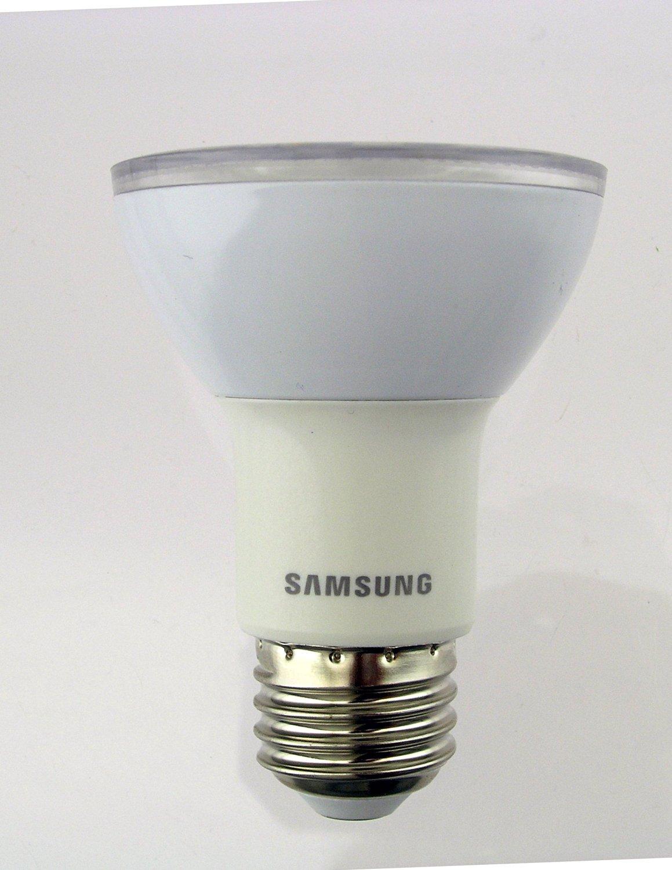 Samsung SI-P8V072AB1US - 7 Watt - Dimmable LED - PAR20 Reflector Lamp - 25 Degree - 3000K Warm White - 400 Lumens - 50 Watt Equal - Medium Base - 120 Volt