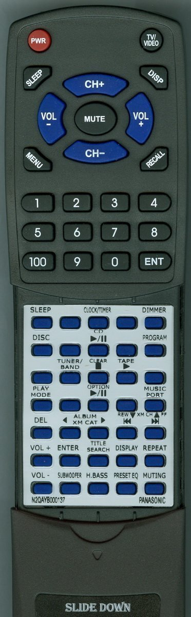 Replacement Remote Control for PANASONIC N2QAYB000137, SCAK750, SAAK750P