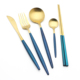 Factory Gold Plated Flatware Set Stainless Steel Cutlery