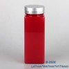 PET plastic liquid amber and red color 250ml bottle with metal cap pill cheap bottle