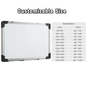 hot sale wall mounted magnetic white board size
