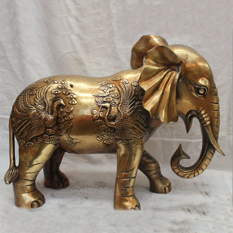 China factory made accept custom abstract miniature brass bronze elephant sculpture