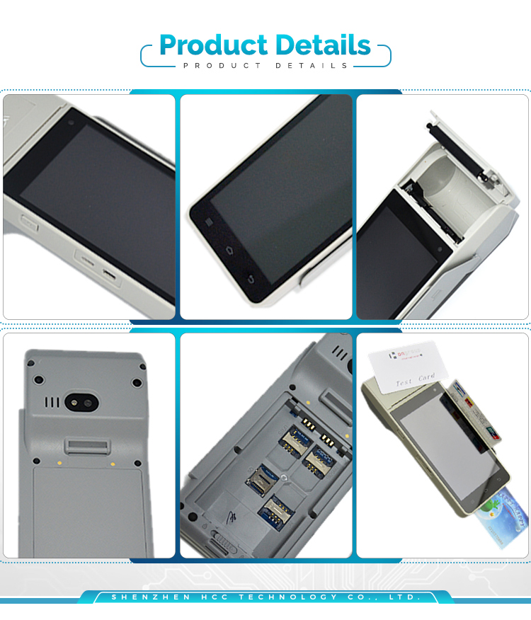 All In One Android Handheld EMV Certified Touch Screen Terminal POS NFC HCC-Z90
