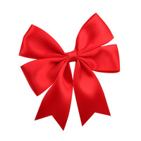 DIY pre-made wholesale satin ribbon bows ,red gift wrap ribbon bow