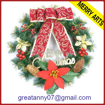 artificial christmas tree large outdoor christmas decorations wholesale artificial christmas wreaths - Large Outdoor Christmas Wreath