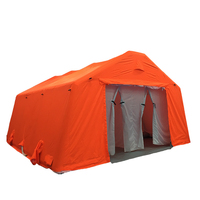 large Customized PVC Orange decontamination army military inflatable tent for outdoor