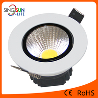 high power high quality light 2 years warranty ceiling light round shape recessed 5w cob ceiling light parts