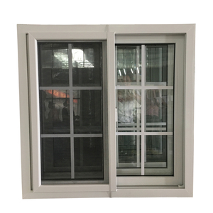 Most popular pvc bathroom reception sliding grill design window and door