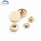 Custom Four Part 15mm Gold Round Alloy Metal Snap Button Snap for Garment