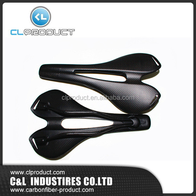 High quality leather covered carbon saddles