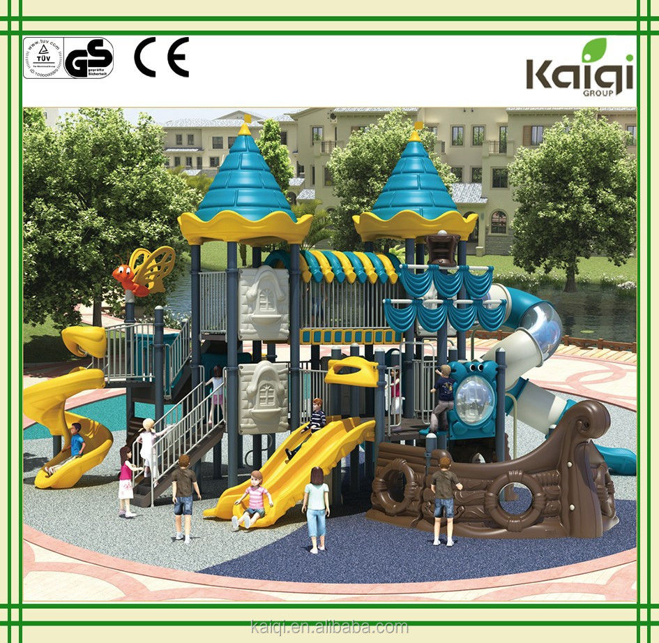 Kaiqi Hot Selling Children Outdoor Playground Castle Theme with galvanized post KQ50050A