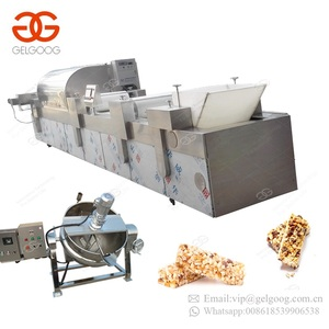 Gold Supplier Breakfast Peanut Chikki Candy Fruit Energy Granola Bar Making Chocolate Cereal Bar Machine