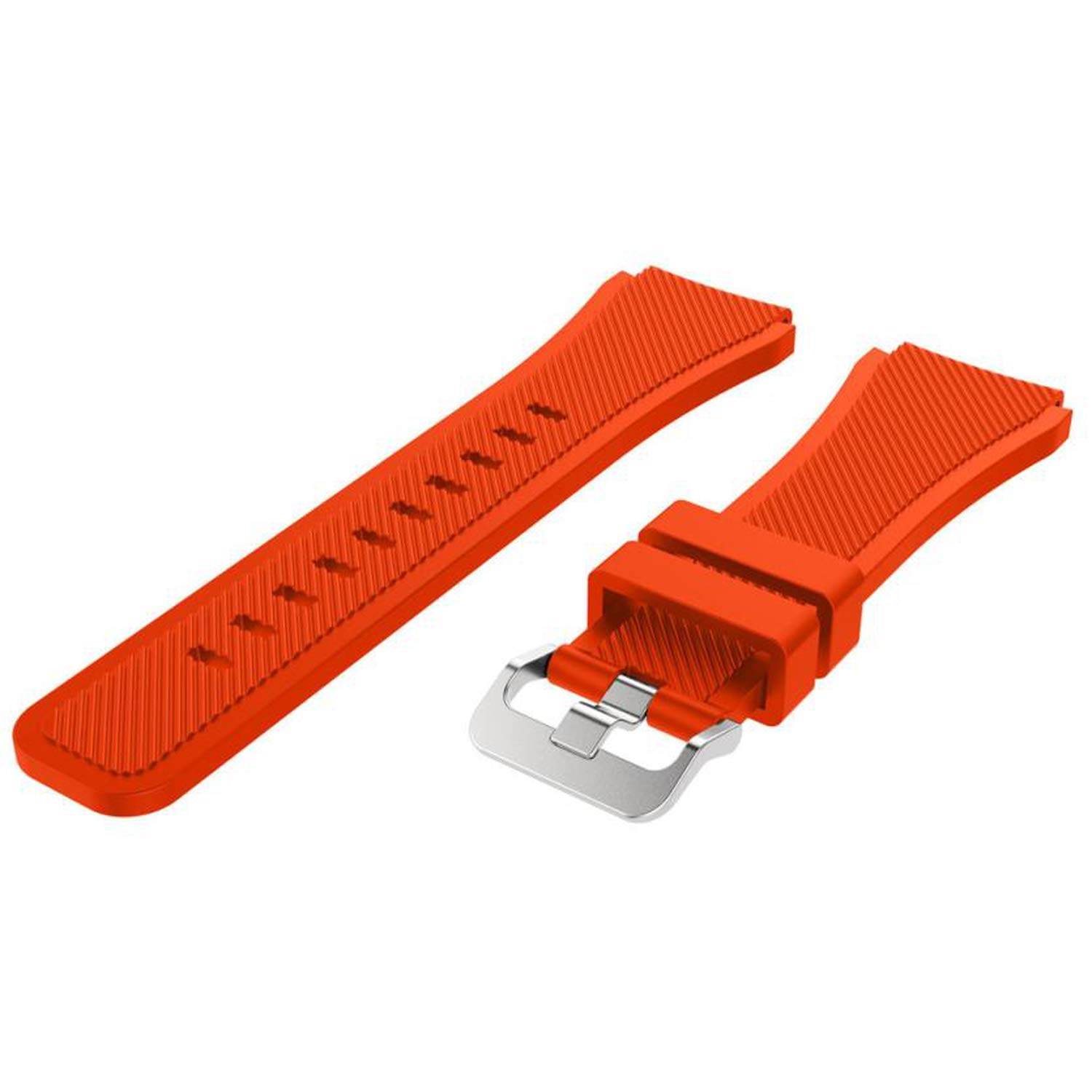 Sonjer 22Mm Watchbands for Samsung Gear for S3 Top Luxury Silicone Watch Strap for Watches Gift,United States,Orange,22Mm