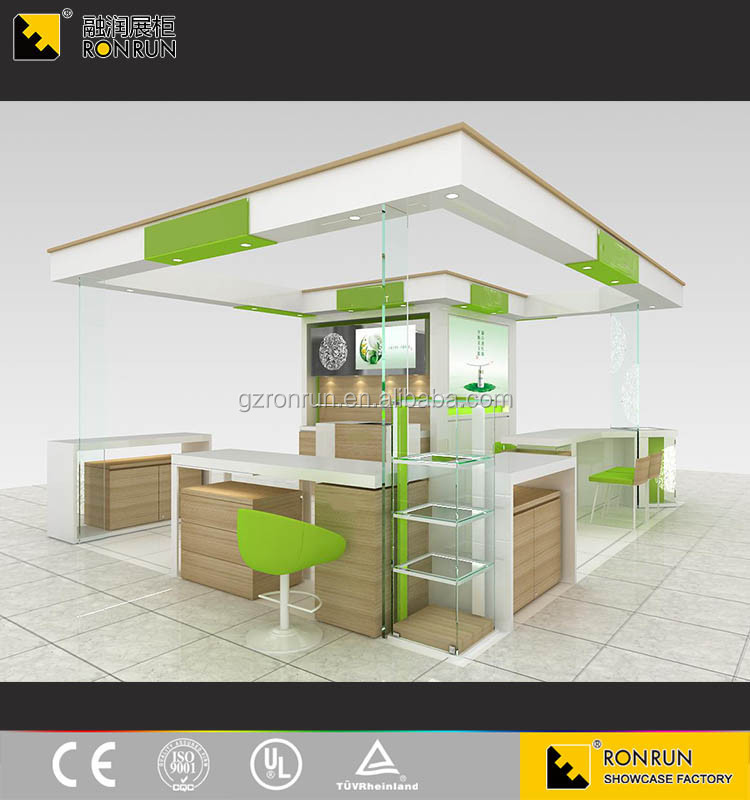 2017 NEW HOT SALES Best Quality cosmetic shop layout for Makeup Counter Design with LED Light