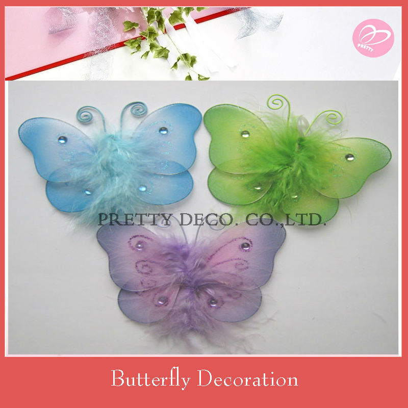 "3"" Artificial silk butterfly"
