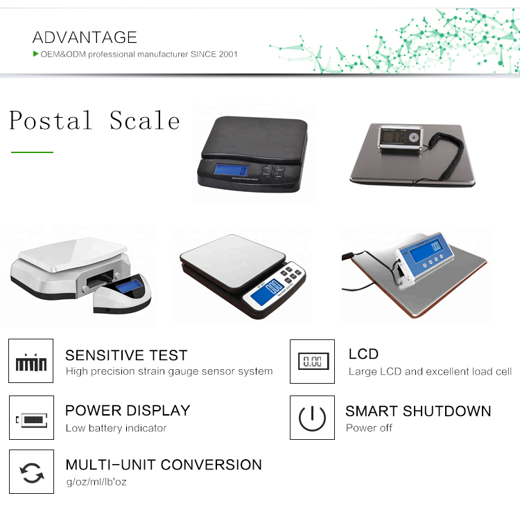 Houseables Industrial Platform Scale 600 LB Digital Shipping Price Computing Postal Scale