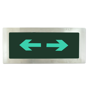 LST model 202 IP65 metal panel  single or double side  led emergency leading exit sign board