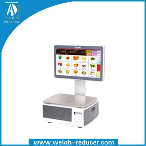 P18 Promotional advertising screen advanced self-checkout label printing digital weight scale